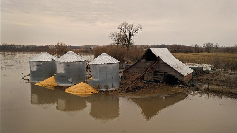 Midwest Farmers Won't Get Federal Aid for Flood-Damaged Crops