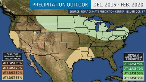 Noaa Winter 2020 Predictions.Winter 2019 20 Outlook Colder Than Average In North East
