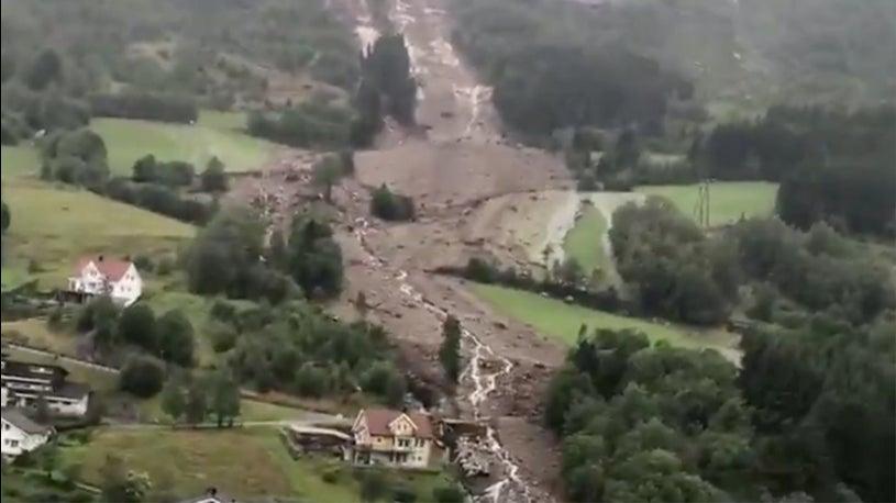 Heavy Rain Triggers Series of Landslides in Norway