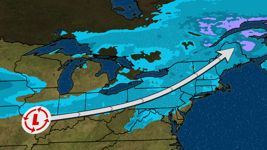Snow to End Week in Midwest and Northeast