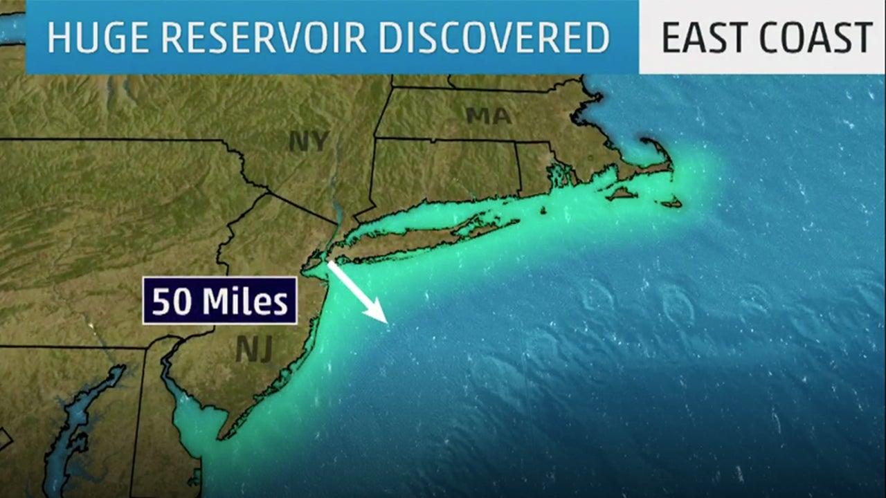 Aquifer nearly twice the size of Lake Ontario beneath the Atlantic