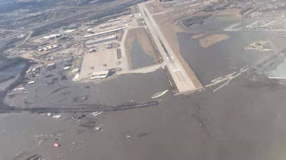 Offutt Air Force Base Battles Floodwaters