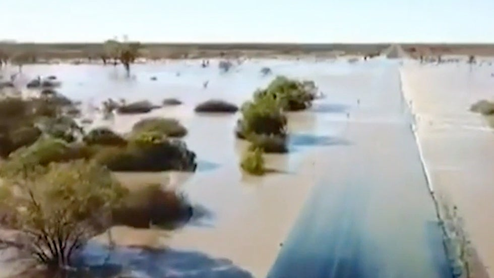 Drone Video Shows Scale of Flooding in Queensland