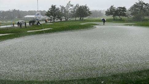 California Hailstorm Delays Final Round of Pebble Beach Pro