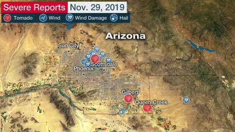 Three Unusual Tornadoes Confirmed in Arizona Friday