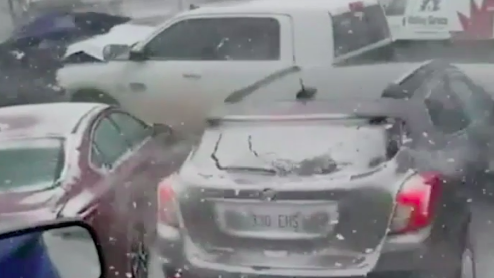 Deadly Multi Car Pileup Caught On Cell Phone  C2 B7 Weather