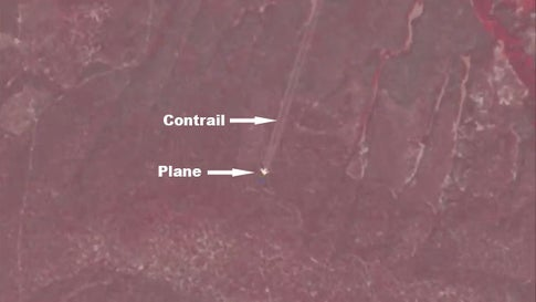 Airplane Photobombs USGS Satellite Collecting Imagery Over Oregon