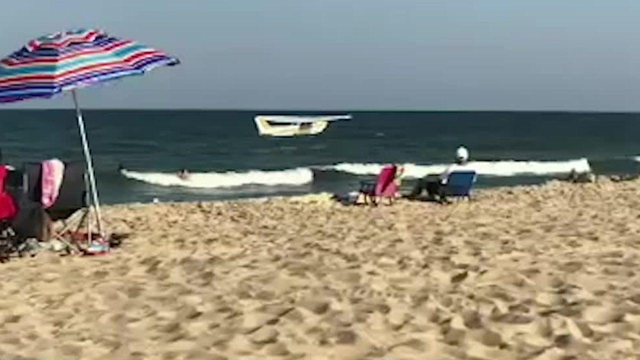 Plane's Emergency Water Landing Surprises Beachgoers in Maryland