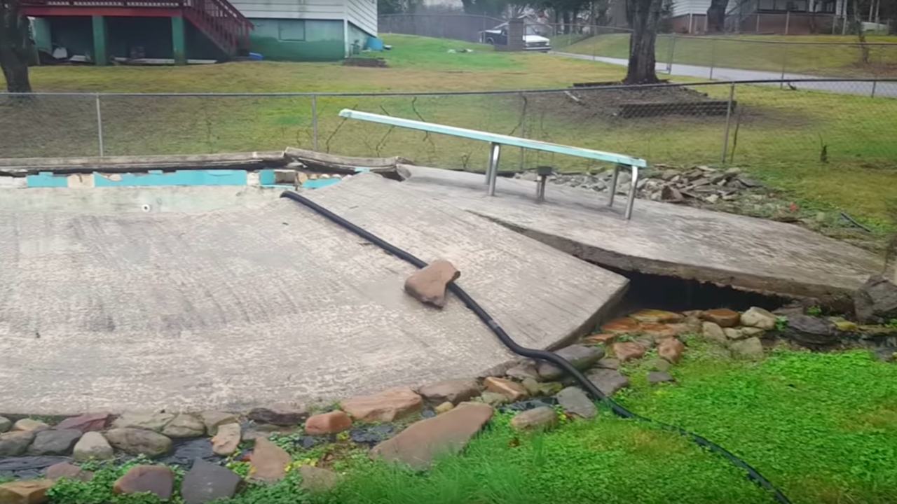 Floodwaters Lift Pool Above Ground in Tennessee | The Weather Channel
