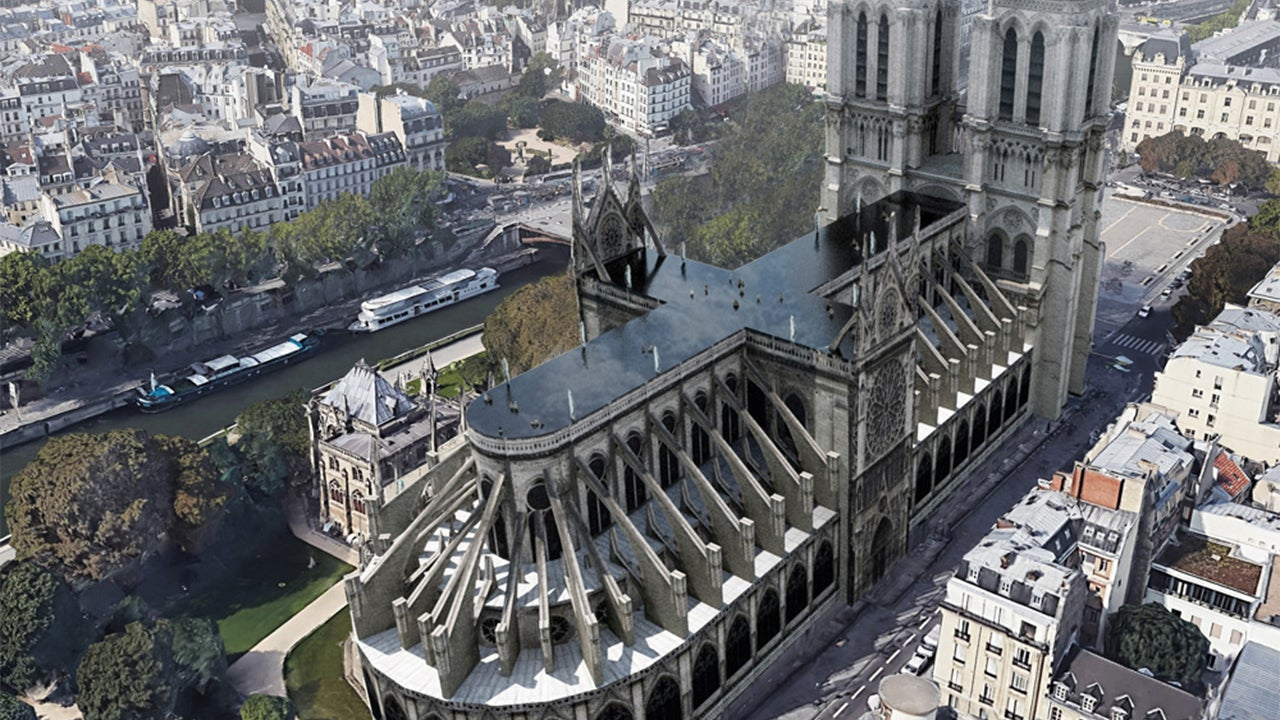 Notre Dame Fire Reconstruction Ideas Include a Rooftop Swimming Pool