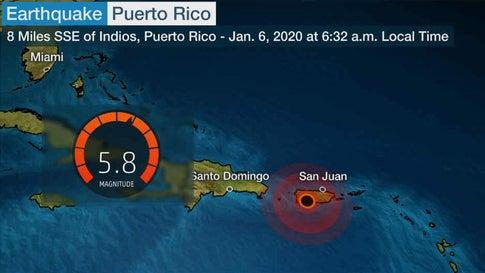 Puerto Rico Earthquake Cracks Buildings Triggers Landslides