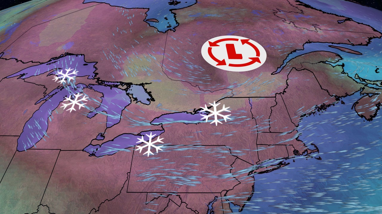A heavy round of lake-effect snow could make travel impossible