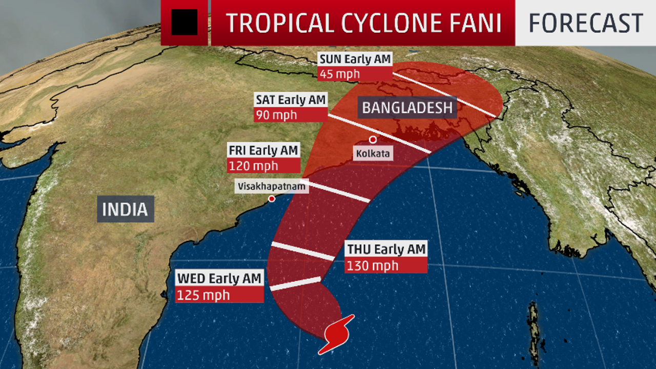 Cyclone Fani Set to Bring Heavy Rainfall to West Bengal