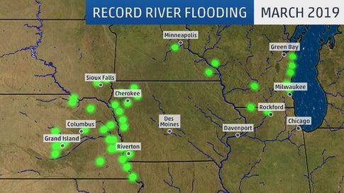 Record Flooding in Neska, Iowa, South Dakota, Wisconsin ... on map of china major rivers, map of alaska major rivers, map of thailand major rivers, map of united states major rivers,