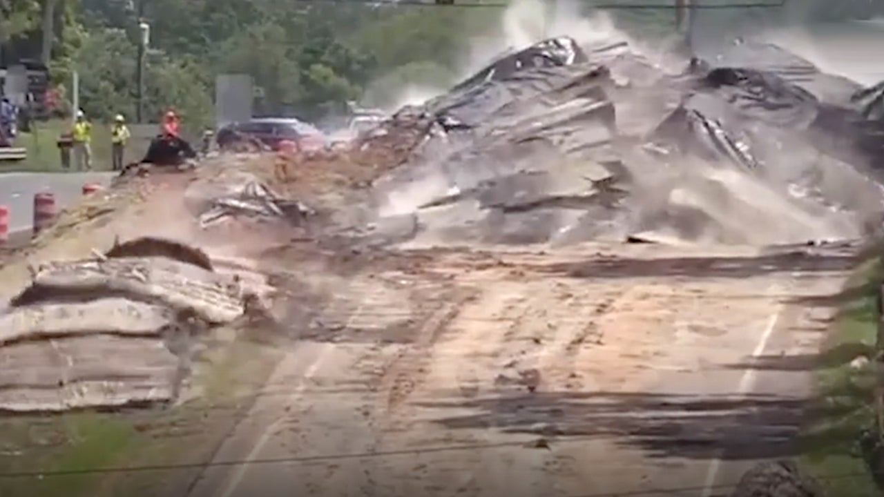 Controlled Road Blast in Virginia Incredibly Satisfying to Watch