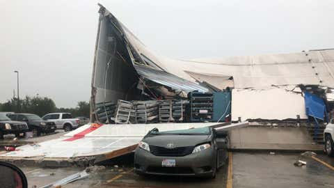 The Houston Fire Department said the roof of a post office mail distribution facility on Aldine Bender Road collapsed on Thursday, September 19, 2019. (Twitter/Houston Fire Department)