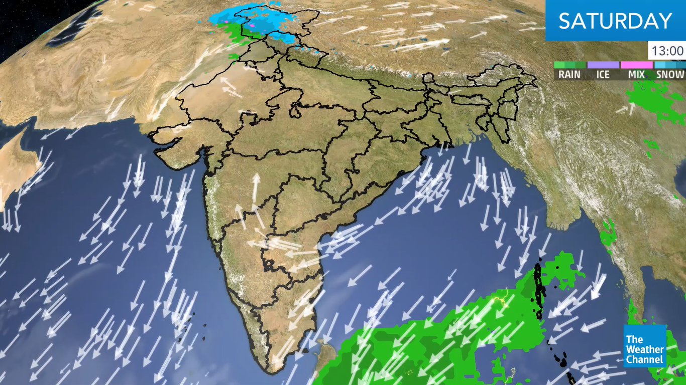 The persisting trough and cyclonic circulation will lead to heavy rainfall over Kerala.