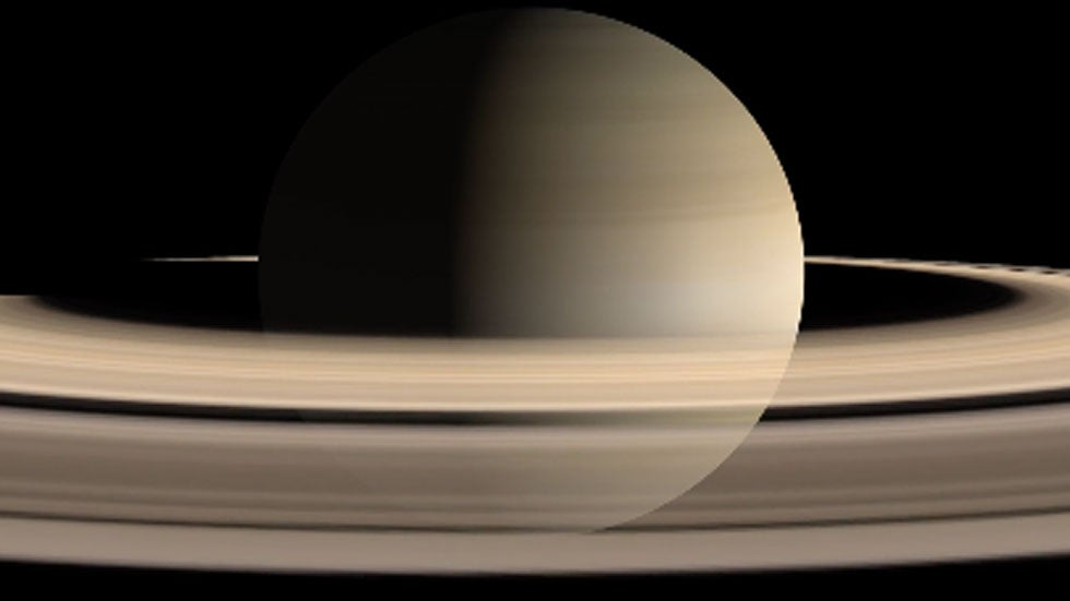 Saturn's Rings Disappearing Due to Gravitational Pull