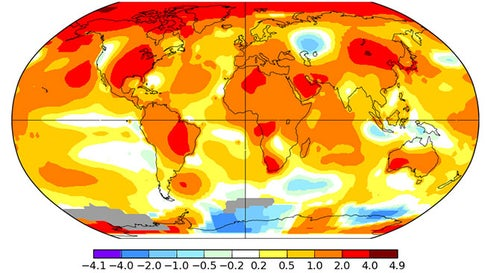Earth Tied Its Record Warmest September in 2019, NOAA Finds