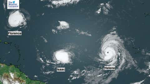 There is an upsurge in Atlantic activity with at least three storms developing