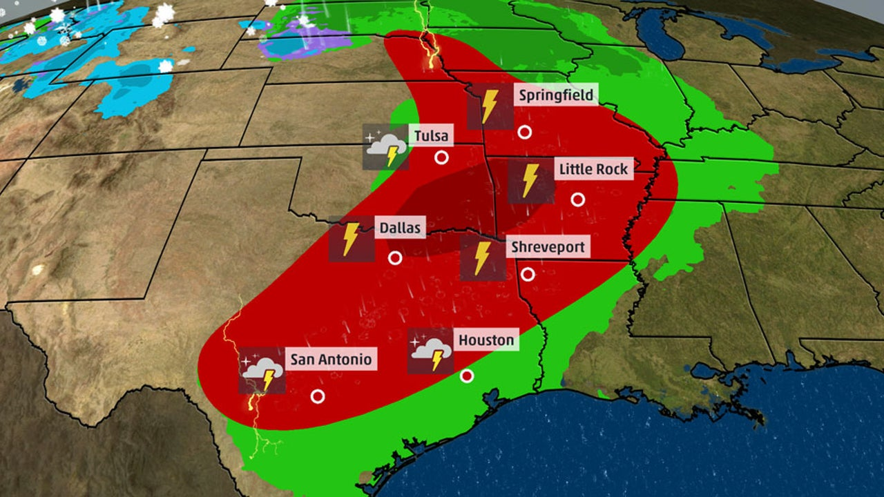 Damaging winds, hail and some tornadoes expected