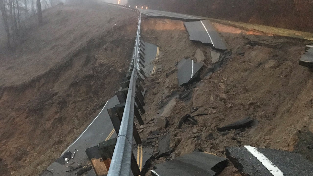 'Very Dangerous Situation': Landslide Wipes Out Highway