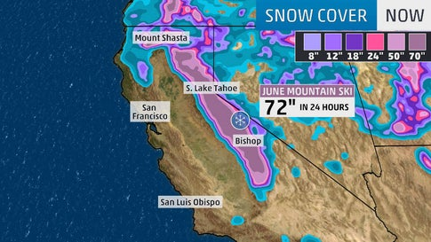 snow in california map Here S How California S 6 Feet Of Snow In 24 Hours Compares To