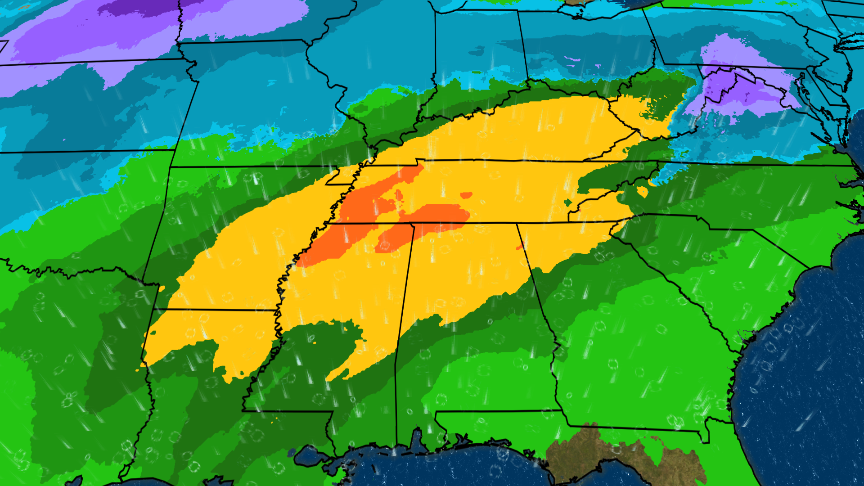 Days of Rain in the Forecast for the Southeast