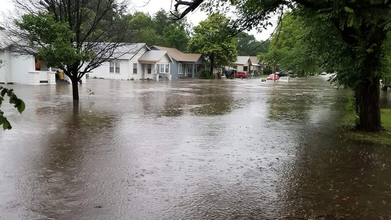 Oklahoma Underwater After Severe Storms Cause Flooding