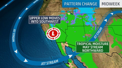 Pattern Change Will Bring First Significant Rain, Snow of Season to Parched California, Southwest