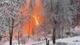 Sparks Fly as Heavy Snow Brings Down Power Lines in Italy