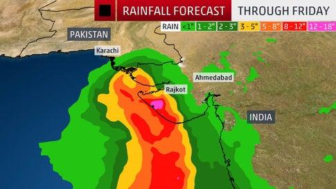 Cyclone Vayu to Strengthen and Threaten India, Pakistan This