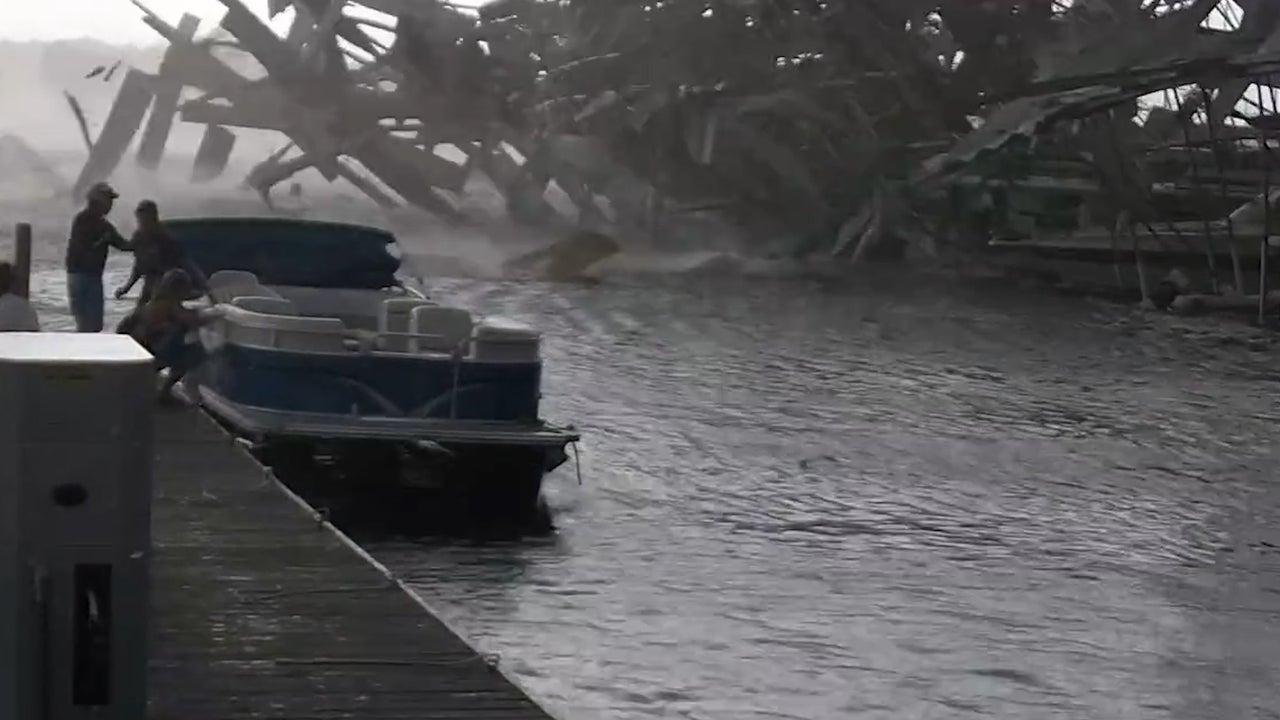 Tornado Damages Dock in Western Kentucky