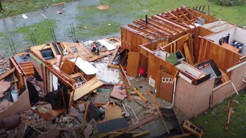 Twisters Touch Down in Mississippi, Cars Tossed Like Toys