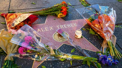 HOLLYWOOD, CA - NOVEMBER 08: Hollywood honors Alex Trebek on the Walk of Fame after the announcement of his death on November 08, 2020 in Hollywood, California.  (Photo by AaronP/Bauer-Griffin/GC Images)