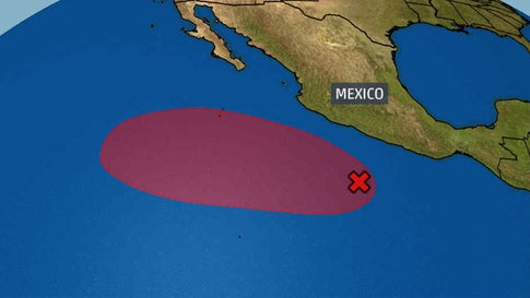 Eastern Pacific Area to Watch Has a High Chance of Development