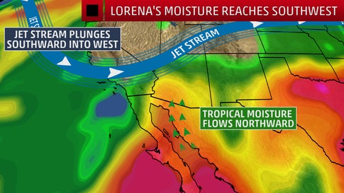 Remnants of Lorena to Bring Increased Rainfall and Possible Flash Flooding to Desert Southwest