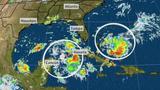 Two Tropical Disturbances Near Florida Bringing Rain to Southeast