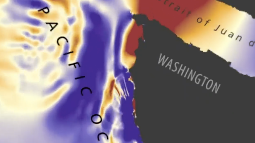 Simulation Shows Catastrophic Effect Tsunami Would Have on Washington State