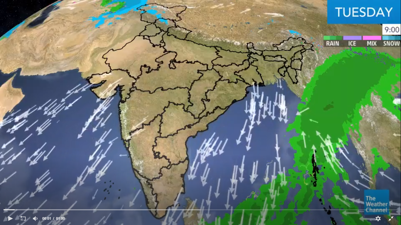 Wet Weather Conditions Prevail over NE India Due to Cyclonic Circulation