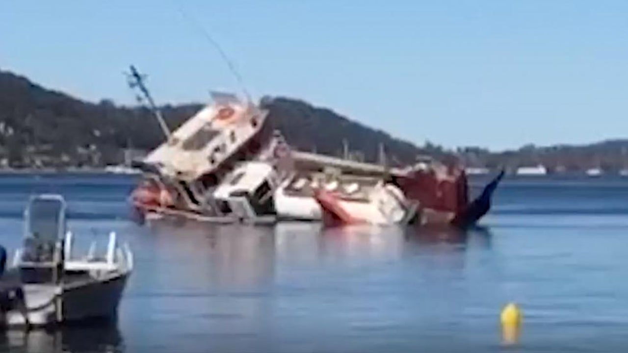 Barge Overturned Near Sydney, Leaking Waste and Diesel