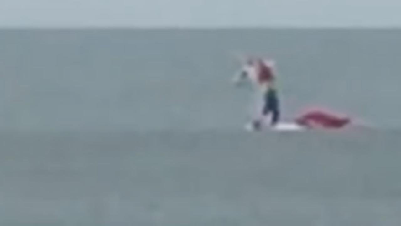 Boy on Unicorn Raft Swept Out to Sea