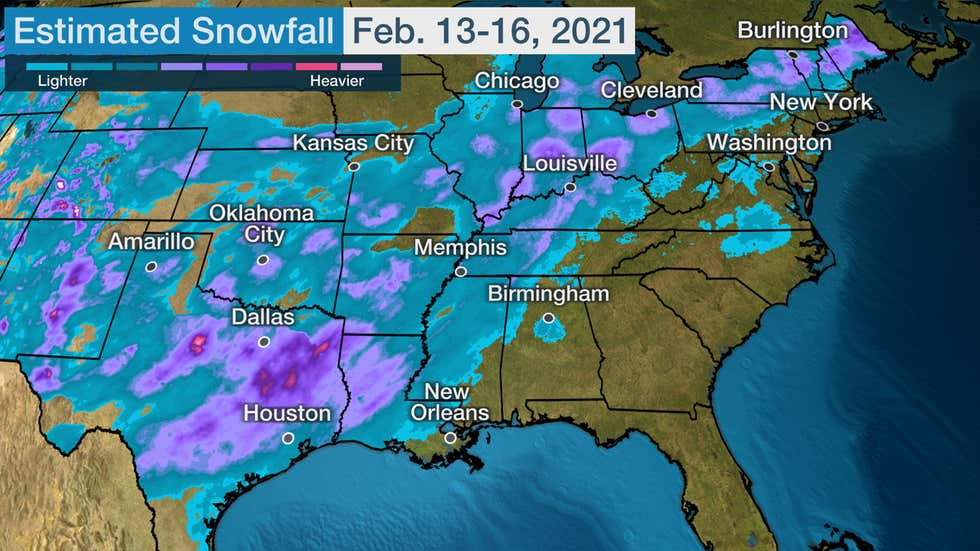 Winter Storm Uri Spread Snow, Damaging Ice From Coast-to Coast, Including  the Deep South (Recap) | The Weather Channel - Articles from The Weather  Channel | weather.com