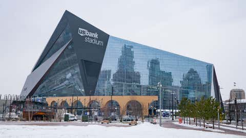 General view of the U.S. Bank Stadium, home of the Minnesota Vikings and Super Bowl LII on December 29, 2017 in Minneapolis, Minnesota. (AaronP/Bauer-Griffin/GC Images)