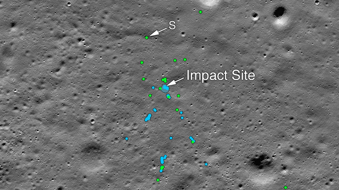 Impact Point of Vikram Lander Found on the Moon