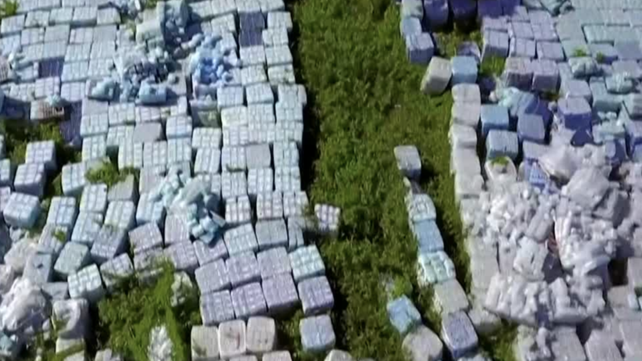 Sea of Expired Water Bottles Dumped on Puerto Rican Farm