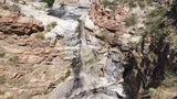 Dry Cliff Turns into Raging Waterfall at Tanque Verde Falls, AZ
