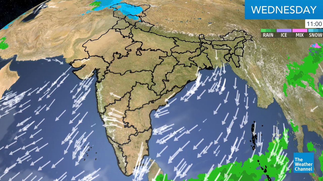 Assam, Meghalaya and Arunachal Pradesh will receive the heaviest rainfall due to the incursion of moist air into the region.