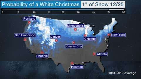 Chances Of White Christmas In Nj 2021 Odds Of A White Christmas Here S Who Has The Best Chance The Weather Channel Articles From The Weather Channel Weather Com