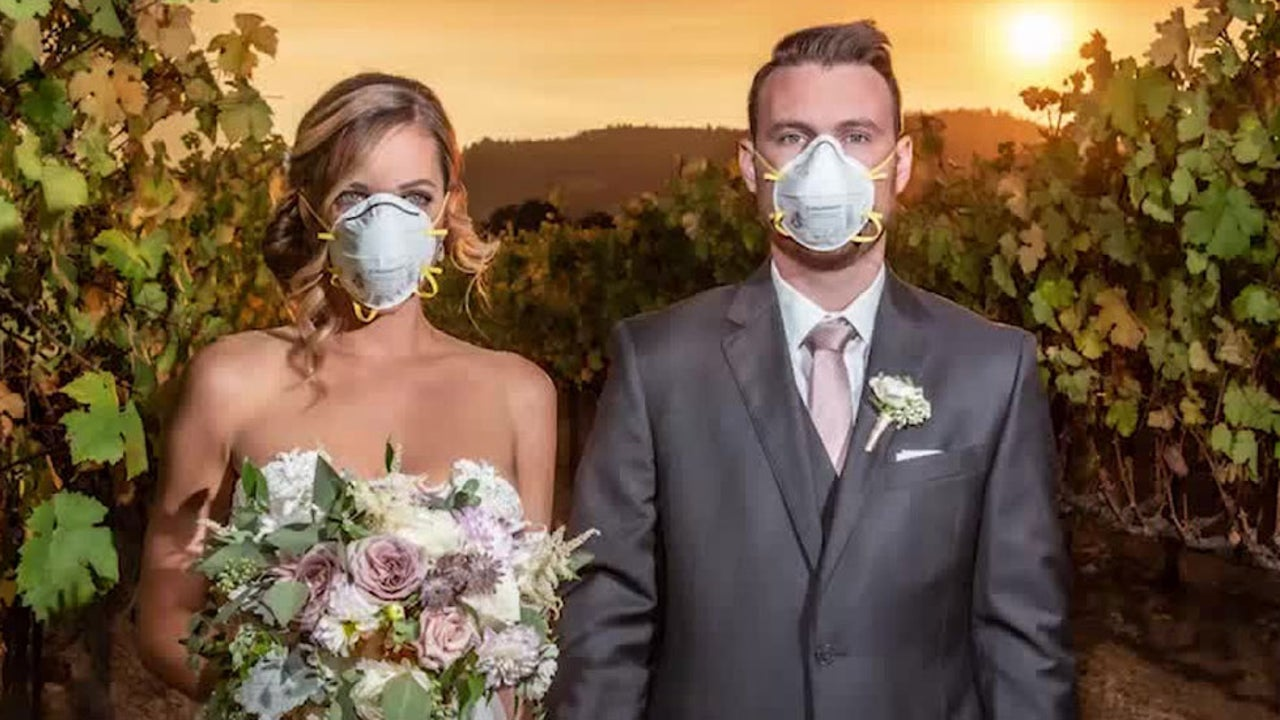 Photographer Captures Viral Wedding Photo as Kincade Fire Illuminates Sonoma Winery